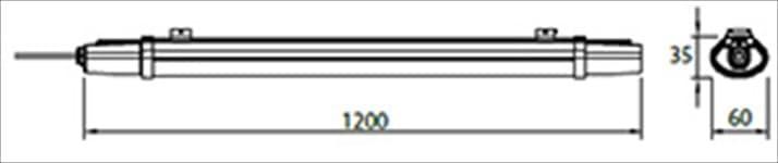 Αδιάβροχο φωτιστικό LED SMD v-tac S-Series 36W 1200mm ψυχρό λευκό 6400K Κωδικός: 6470