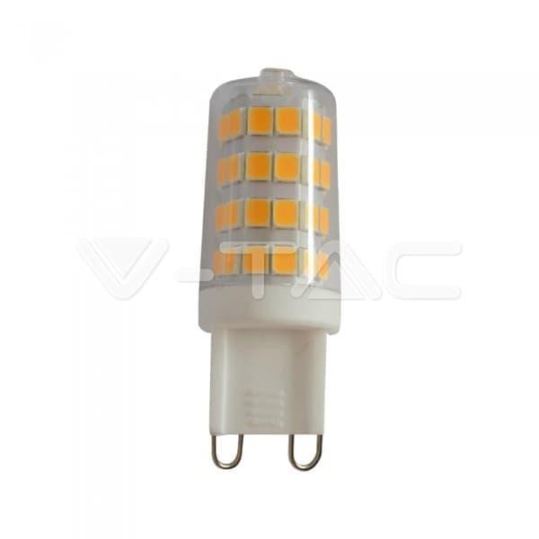 Λάμπα LED Spot G9 SMD 3W ψυχρό λευκό 6400K διάφανο σώμα (πακέτο 6 τεμάχια) Κωδικός: 2747