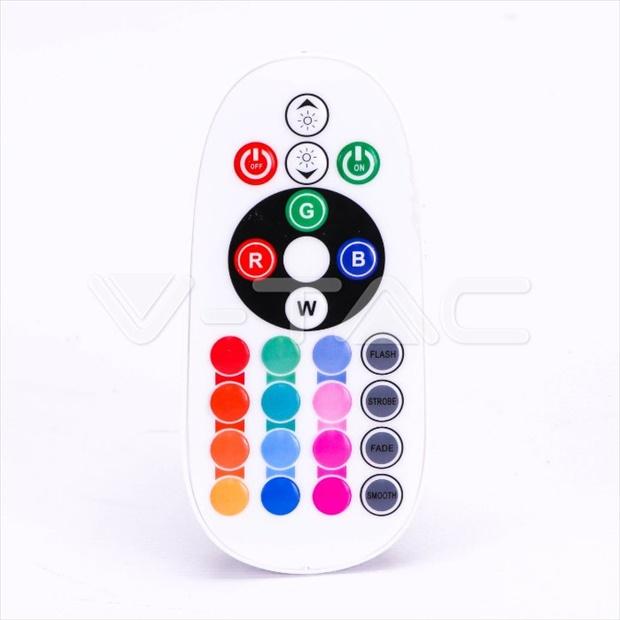 Λάμπα LED Spot GU10 SMD 3.5W RGB + Φυσικό λευκό 4000K (RF CONTROL), Λευκό σώμα, 110° Μοιρών, Ντιμάρεται Κωδικός: 2779