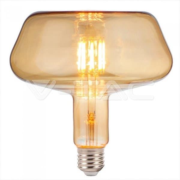Λάμπα LED E27 T180 LED FLAMENT BULB 8W Θερμό λευκό 2200K Amber cover Κωδικός: 2790