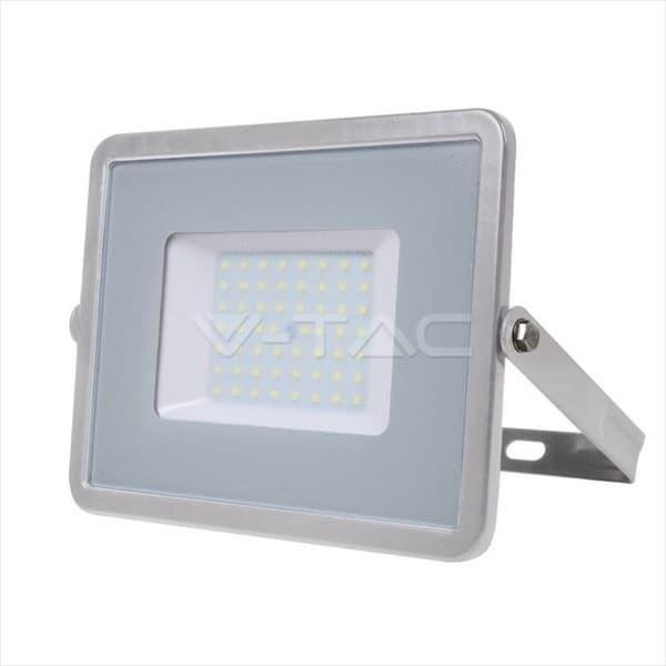 Προβολέας LED Samsung chip 50W Λευκό 6400K Γκρί σώμα High Lumen Κωδικός: 761