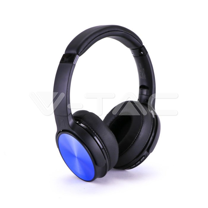 Bluetooth ασύρματα ακουστικά, σε μπλέ χρώμα – 500mah με rotatable head Κωδικός: 7728