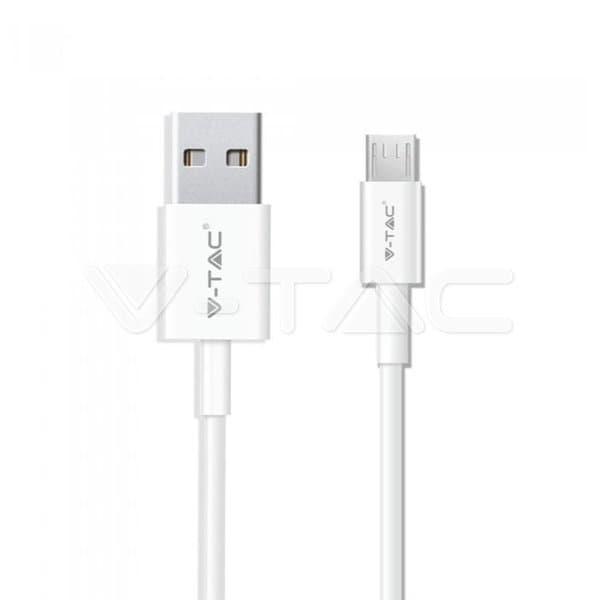 Καλώδιο Micro USB λευκό 1m Pearl Series Κωδικός: 8480