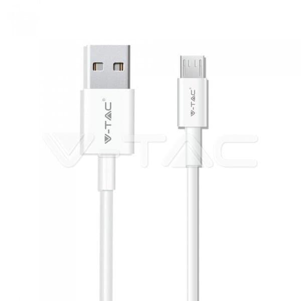 Καλώδιο Micro USB λευκό 1m Silver Series Κωδικός: 8484