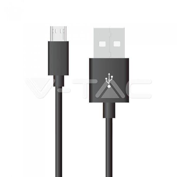 Καλώδιο Micro USB μαύρο 1m Silver Series Κωδικός: 8485