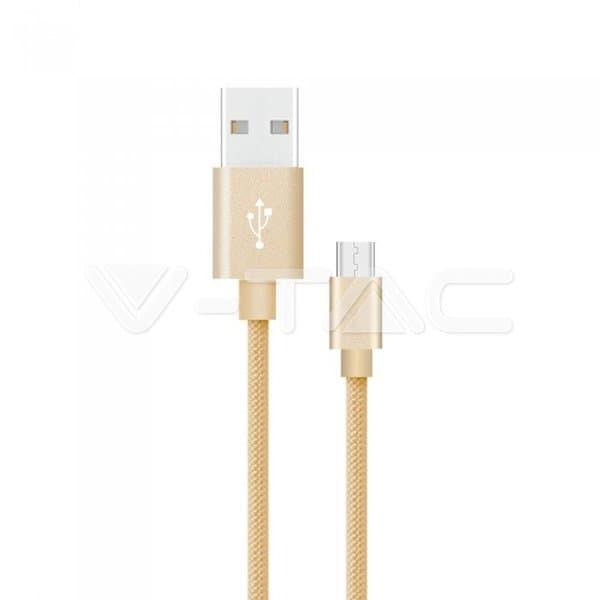 Καλώδιο USB Type C χρυσό 1m Platinum Series Κωδικός: 8493