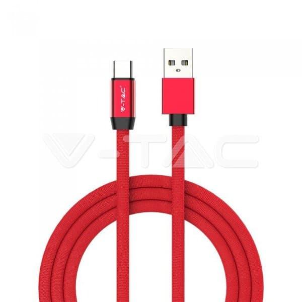 Καλώδιο USB Type C κόκκινο 1m Ruby Series Κωδικός: 8631
