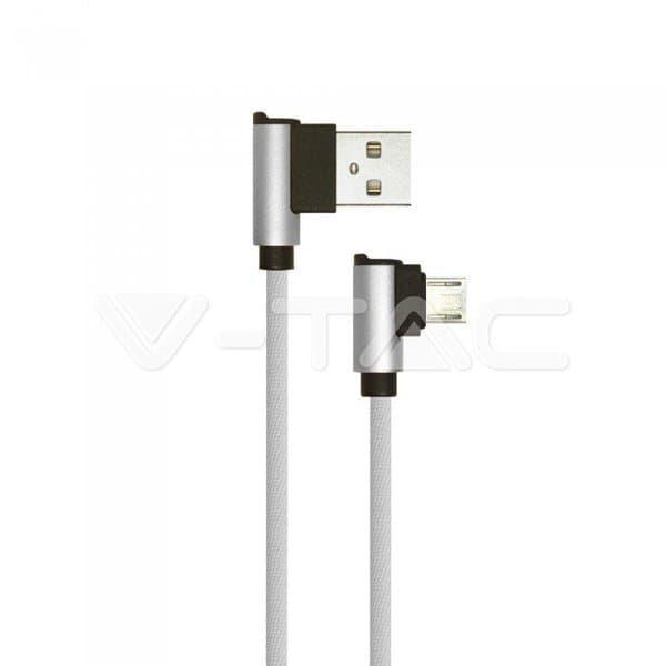 Καλώδιο Micro USB γκρί 1m Diamond Series Κωδικός: 8636