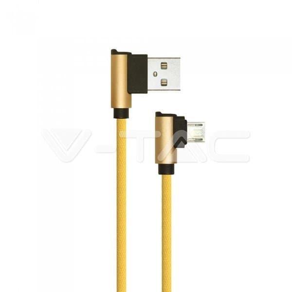 Καλώδιο Micro USB χρυσό 1m Diamond Series Κωδικός: 8637