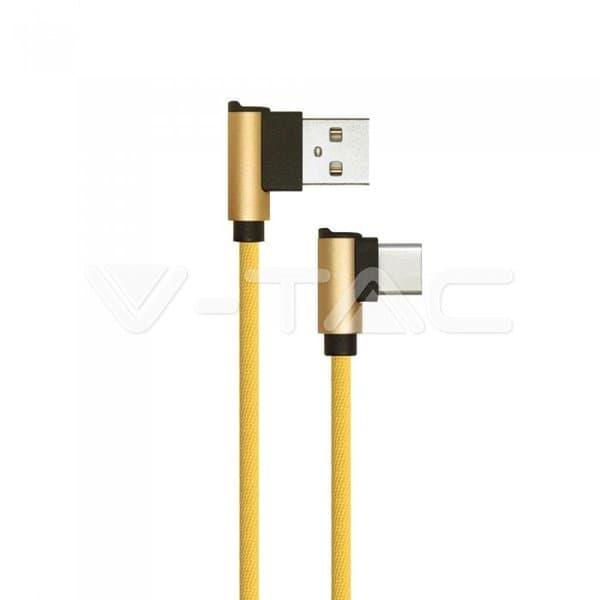 Καλώδιο USB Type C χρυσό 1m Diamond Series Κωδικός: 8640