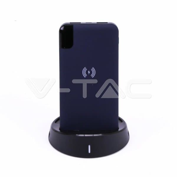 Wireless Power Bank 8000mAh με μπλε σώμα και βάση Κωδικός: 8862