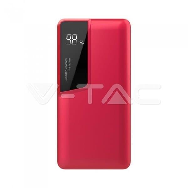 Power Bank 10000mAh με κόκκινο σώμα USB Type-C Κωδικός: 8871