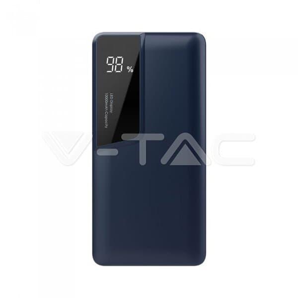 Power Bank 10000mAh με μπλε σώμα USB Type-C Κωδικός: 8872