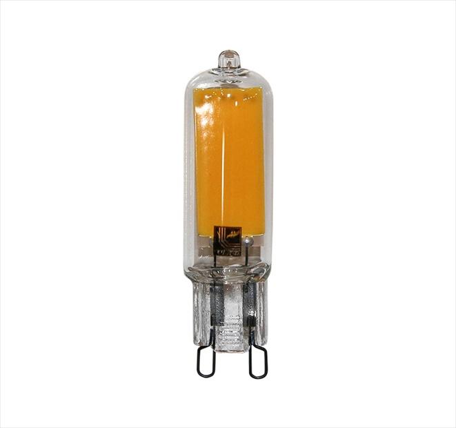 Λάμπα led γυάλινη COB G9 ισχύος 4W 230VAC 6200k ψυχρό φως δέσμης 360° 400lm Κωδικός: 13-99140
