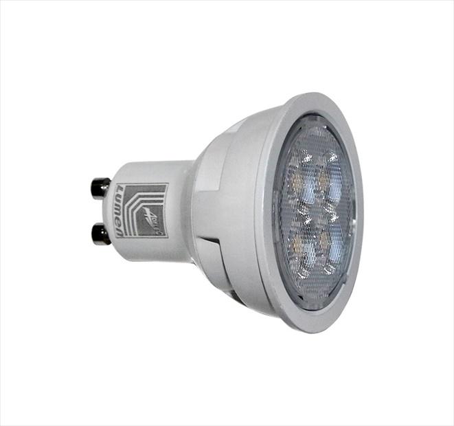 Λάμπα led GU10 ισχύος 10W 230V 4000K φυσικό φως δέσμης 38° 1000lm Ø50mm Κωδικός: 13-102101