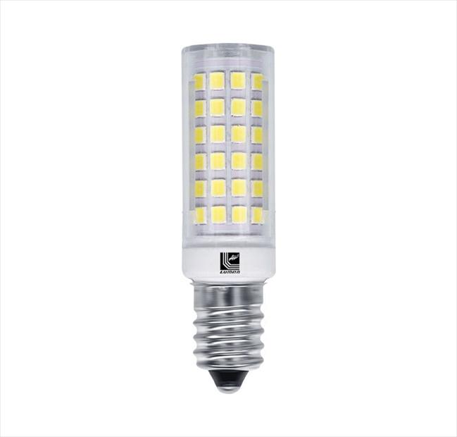 Λάμπα led SMD καλαμπόκι Ε14 6W 230V 6200k ψυχρό λευκό φως δέσμης 360° 600lm με διάφανο κάλυμμα Κωδικός: 13-11460