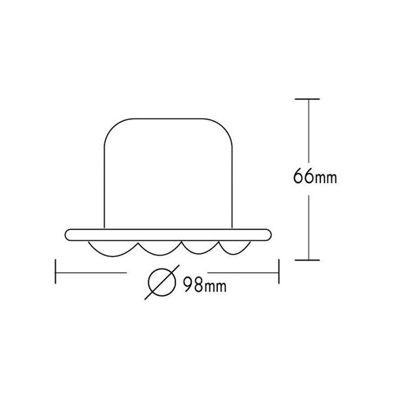Φωτιστικό σπότ χωνευτό γυάλινο στρογγυλό σταθερό μπλε για σπότ MR16 και GU10 - Aca Light AC.0452731