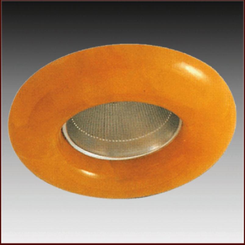 Φωτιστικό σπότ χωνευτό γυάλινο στρογγυλό σταθερό κίτρινο για σπότ MR16 και GU10 - Aca Light AC.0452781