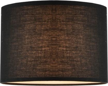 Καπέλο Αμπαζούρ Υφασμάτινο Κυλινδρικό Μαύρο Φ35ΧΗ25cm με Βάση για E27 CRL35B - Aca