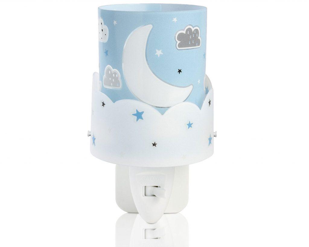 Φωτάκι Νυκτός Πρίζας Παιδικό Moon Blue 61235T - Ango