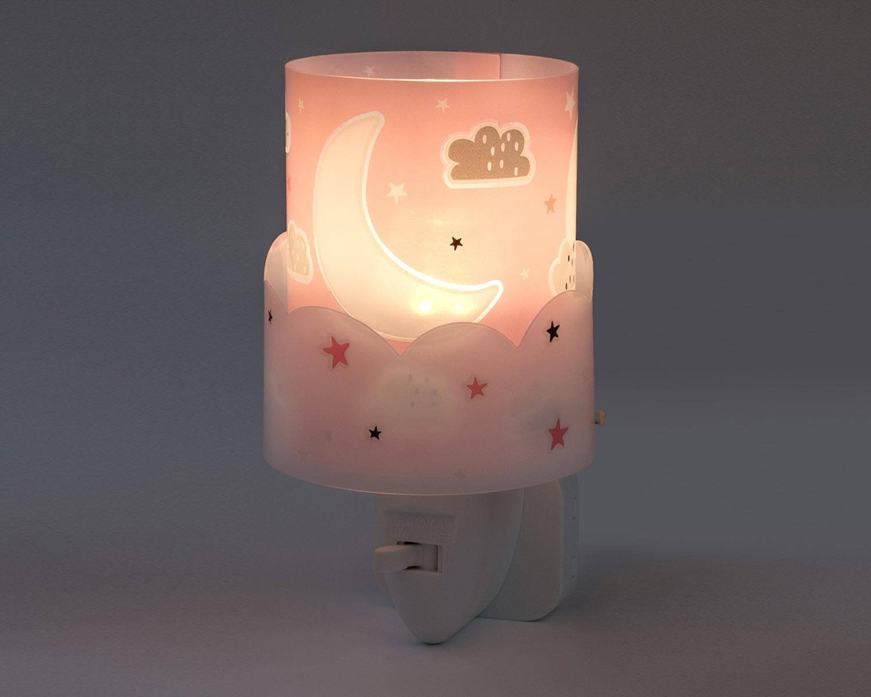Φωτάκι Νυκτός Πρίζας Παιδικό Moon Pink 61235S - Ango