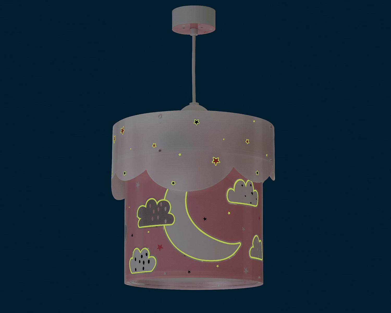 Φωτιστικό Οροφής Παιδικό Moon Pink 61232S - Ango