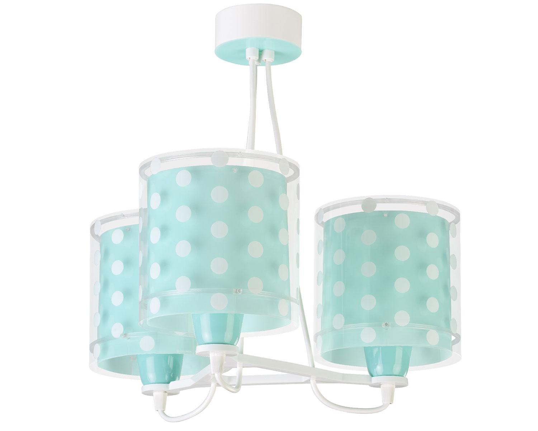 Φωτιστικό Οροφής Παιδικό Τρίφωτο Dots Green 41007H - Ango