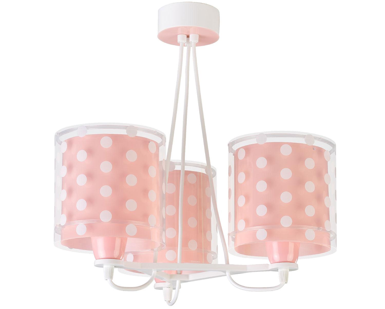 Φωτιστικό Οροφής Παιδικό Τρίφωτο Dots Pink 41007S - Ango