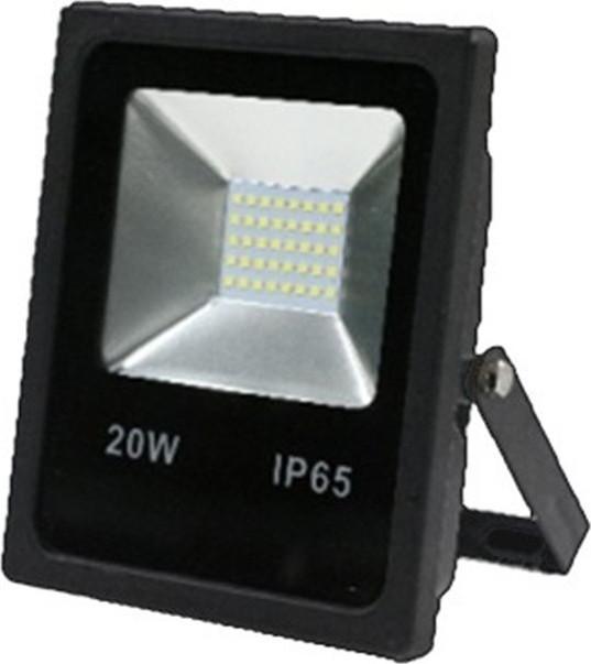 Προβολέας Led Μαύρος 20watt με Αισθητήρα Κίνησης Ψυχρό Λευκό Φώς 6000Κ IP65 -Atman-Led FL-S-00021