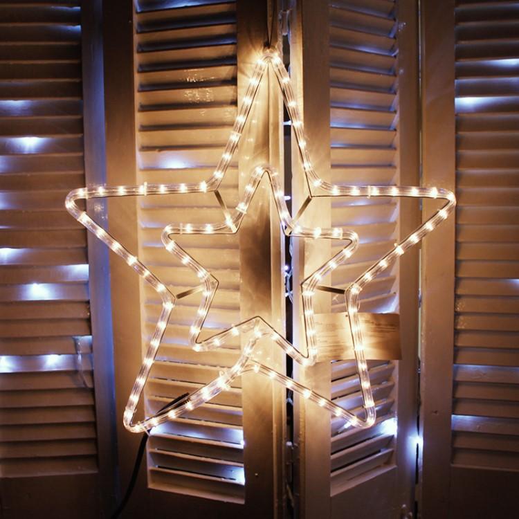 Διπλό Αστέρι 3μ Λευκό Φως με πρόγραμμα - Decolight 90-05-XLTDOUBLE3SW