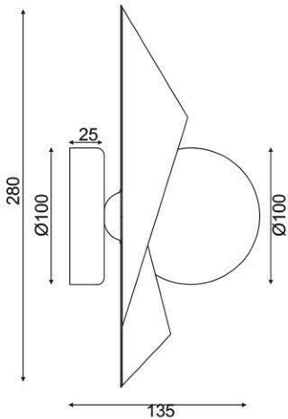 Φωτιστικό Επίτοιχο Απλίκα Polygon Χρυσό Μέταλλο & Λευκό Γυαλί G9 28x13.5cm HL42591W28BG - Aca