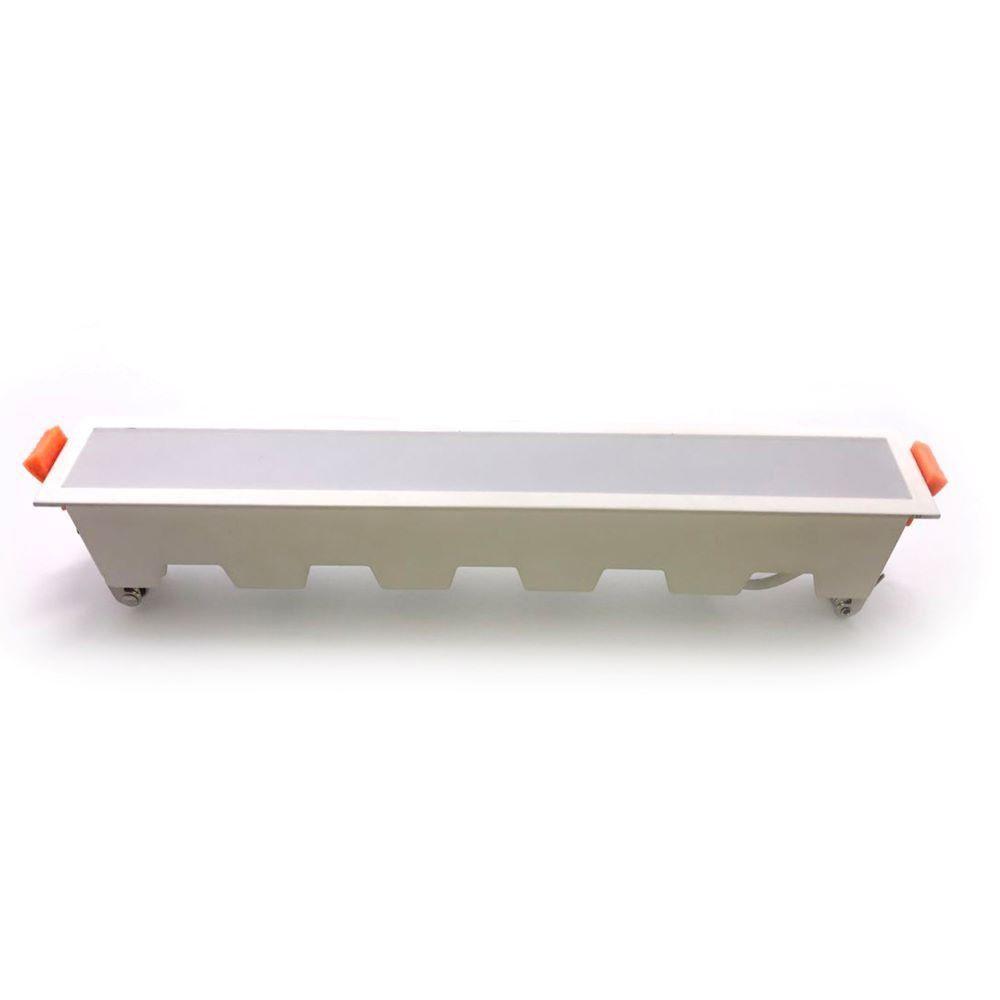 Led Panel Χωνευτό Γραμμικό Flat 20W 1600lm Ψυχρό Λευκό 6400Κ Λευκό Σώμα 29cm 6406 - V-TAC