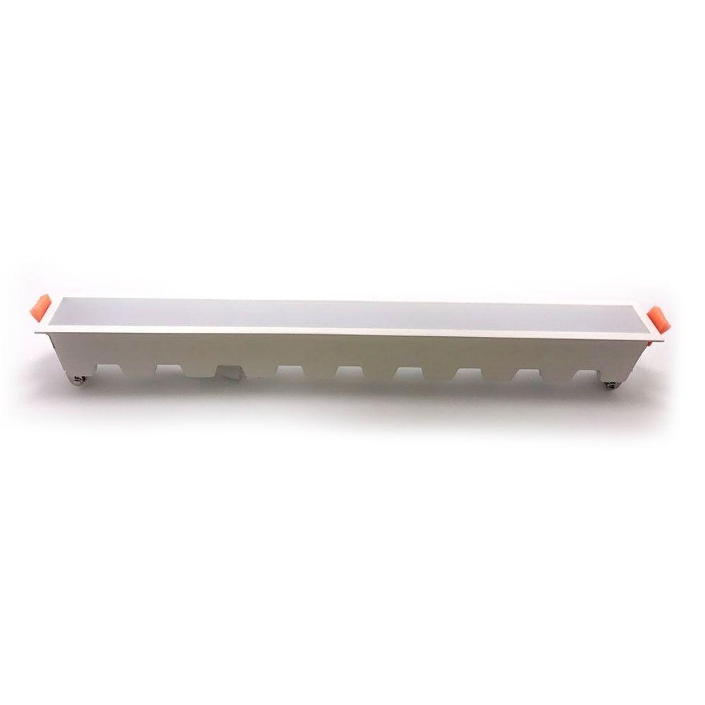 Led Panel Χωνευτό Γραμμικό Flat 30W 2400lm Ψυχρό Λευκό 6400Κ Λευκό Σώμα 43cm 6409 - V-TAC