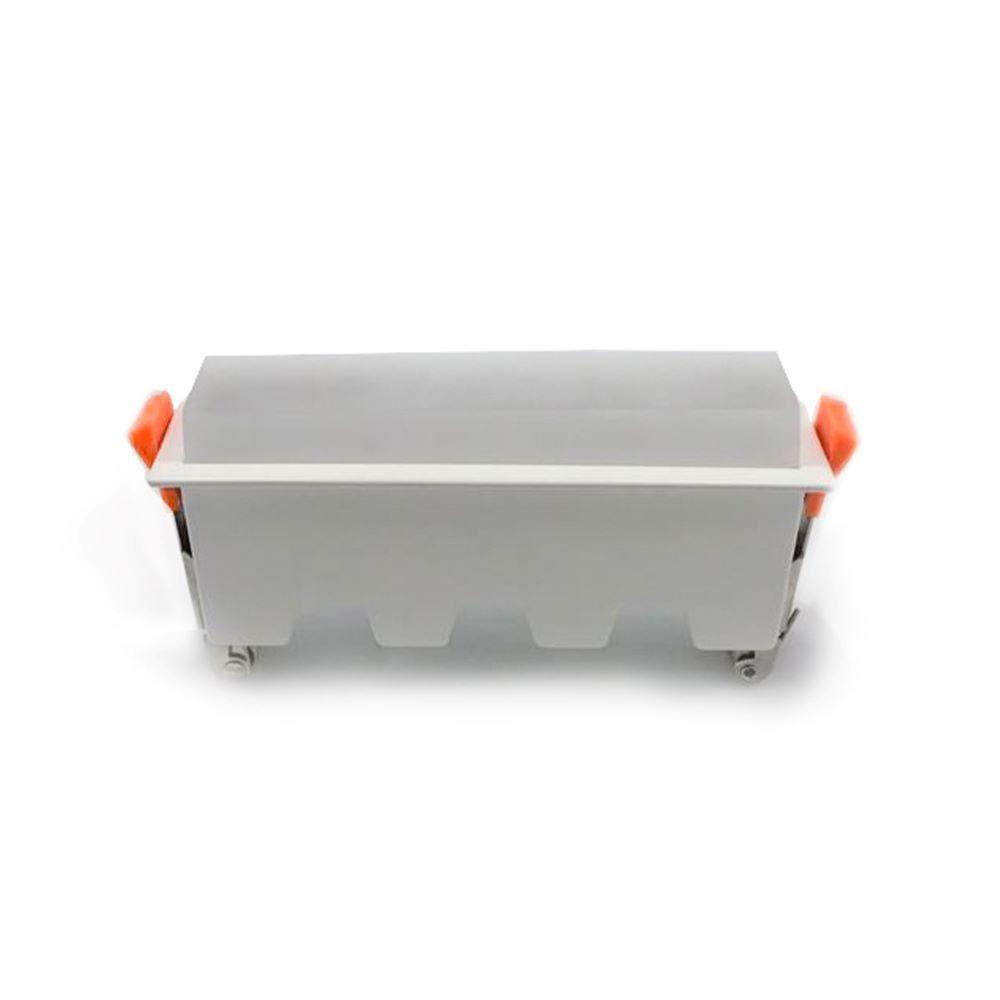Led Panel Χωνευτό Γραμμικό 10W 700lm Ψυχρό Λευκό 6400Κ Λευκό Σώμα 16cm 6412 - V-TAC