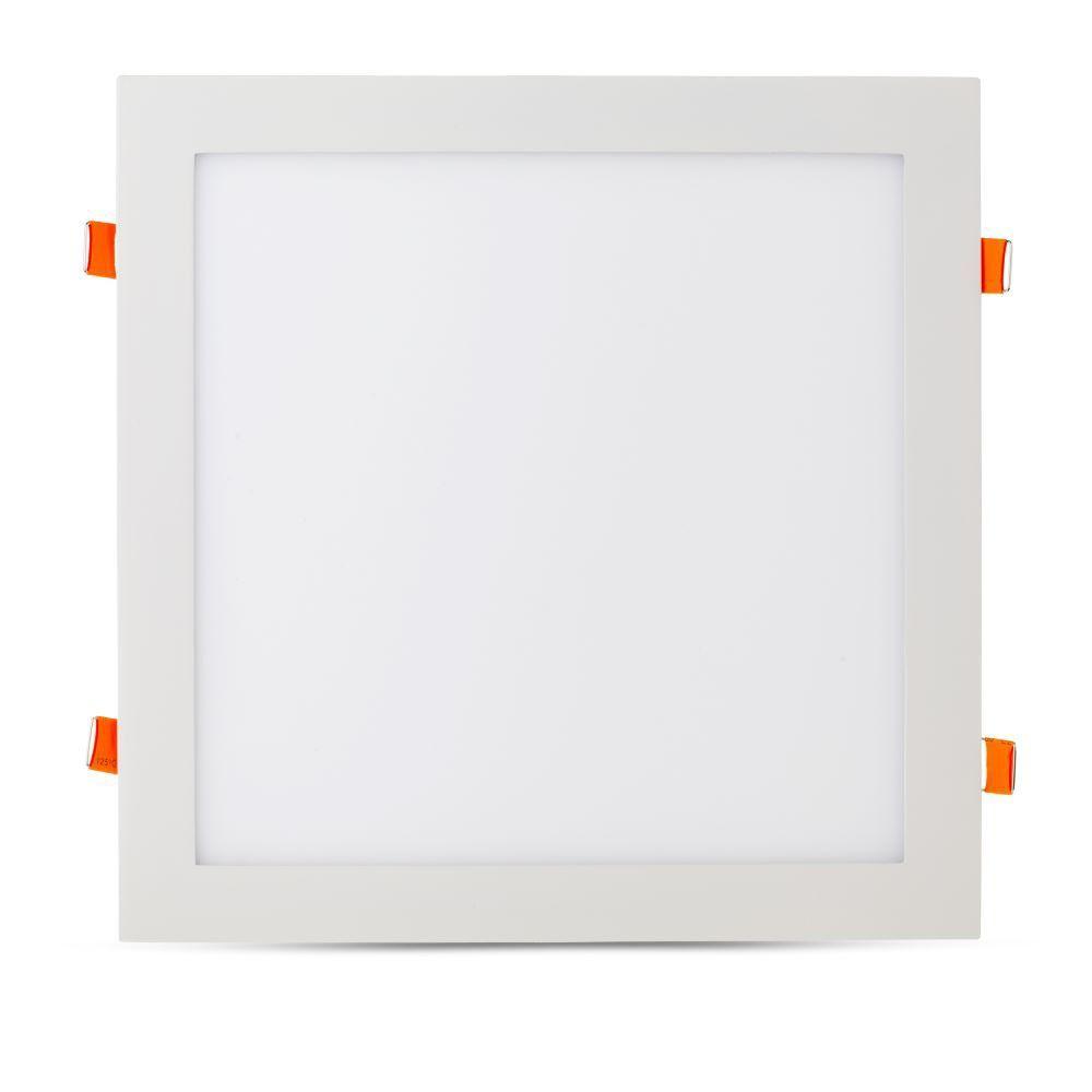 Led Panel Χωνευτό Τετράγωνο 36W 2880lm Ψυχρό Λευκό 6400Κ Λευκό Σώμα 30x30cm 6431 - V-TAC