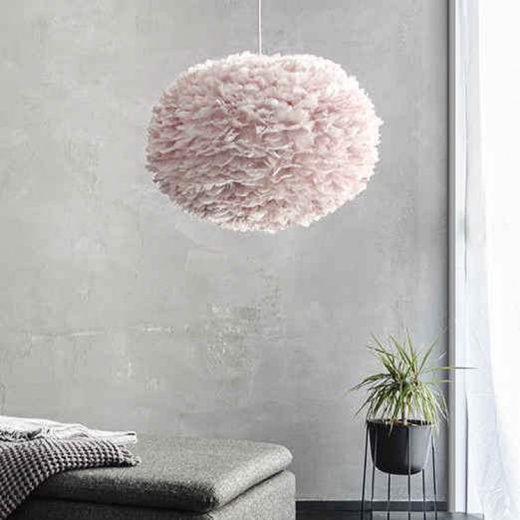 Φωτιστικό Οροφής - Δαπέδου με Πούπουλο EOS Large Light Rose E27 Ροζ Φ65x40cm 2299 - UMAGE