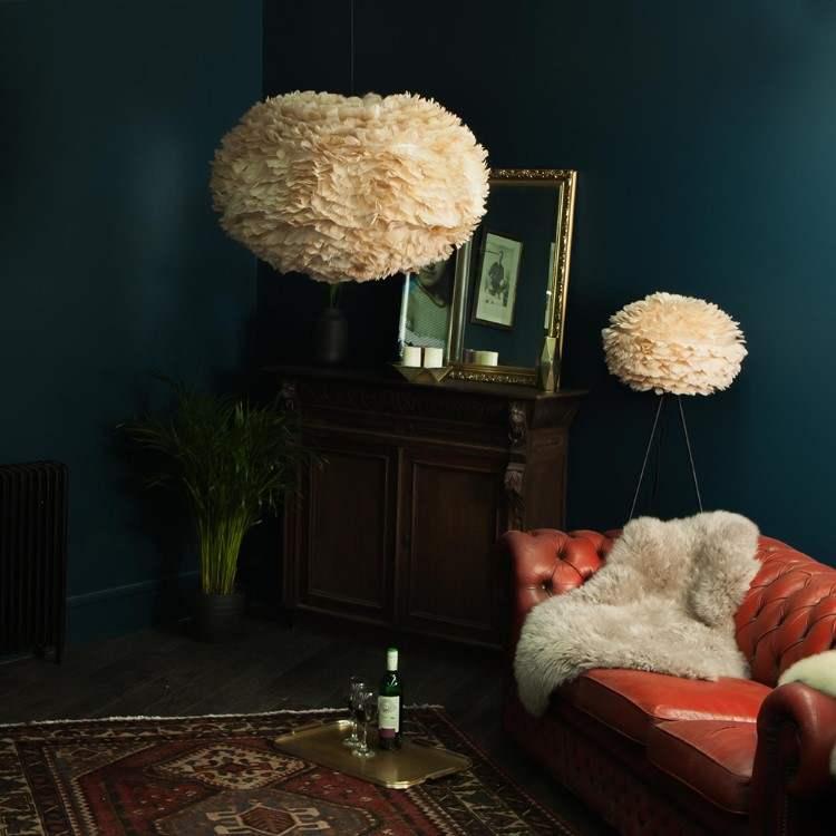 Φωτιστικό Οροφής - Δαπέδου με Πούπουλο EOS Large Light Brown E27 Μπεζ Φ65x40cm 2089 - UMAGE