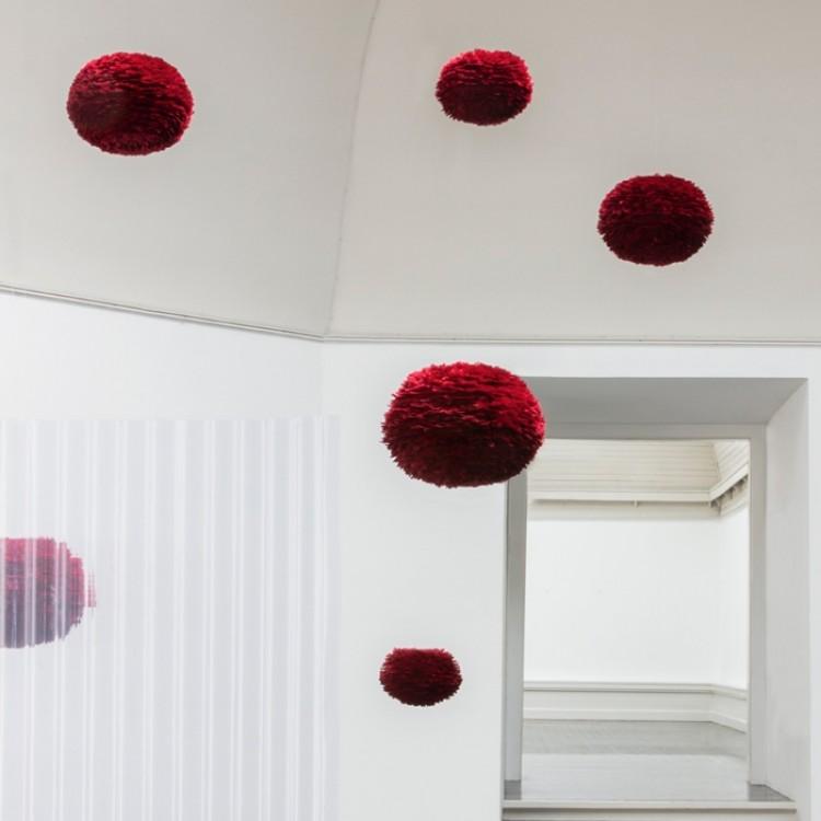 Φωτιστικό Οροφής - Δαπέδου με Πούπουλο EOS Large Red E27 Κόκκινο Φ65x40cm 2023 - UMAGE