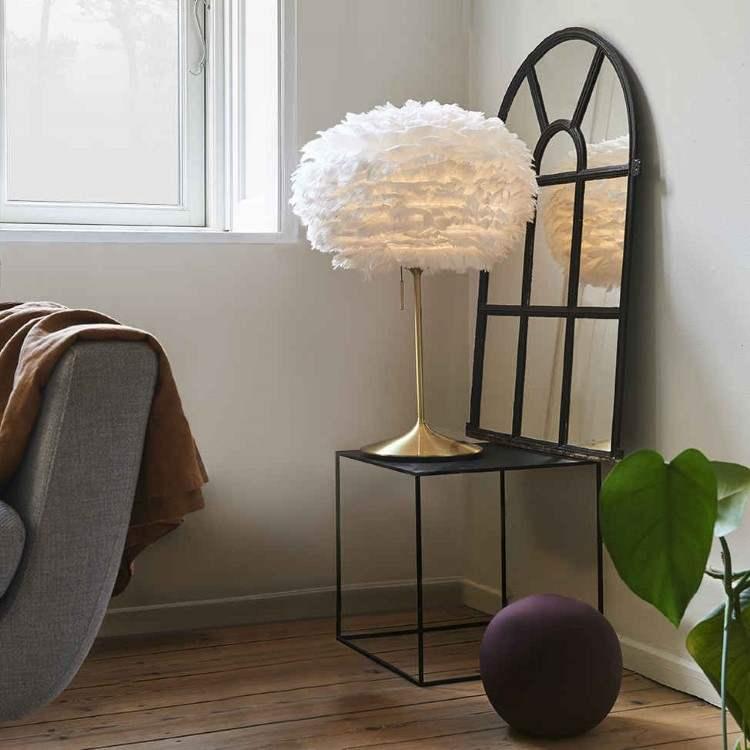 Φωτιστικό Οροφής - Πορτατίφ με Πούπουλο EOS Mini White E27 Λευκό Φ35x20cm 2011 - UMAGE