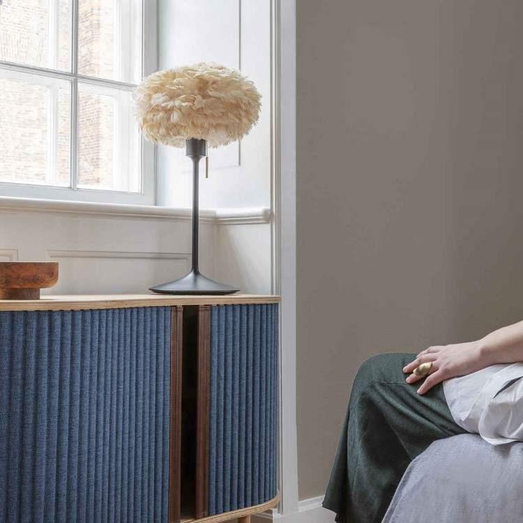 Φωτιστικό Οροφής - Πορτατίφ με Πούπουλο EOS Mini Light Brown E27 Μπεζ Φ35x20cm 2126 - UMAGE
