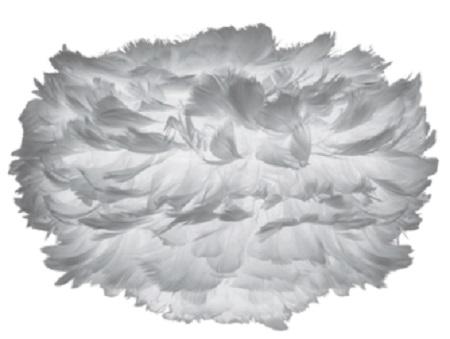 Φωτιστικό Οροφής - Πορτατίφ με Πούπουλο EOS Micro Light Grey E27 Γκρι Φ22x16cm 2123 - UMAGE