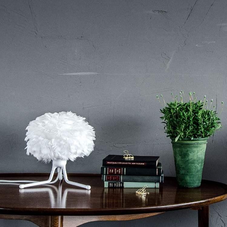 Φωτιστικό Οροφής - Πορτατίφ με Πούπουλο EOS Micro White E27 Λευκό Φ22x16cm 2091 - UMAGE