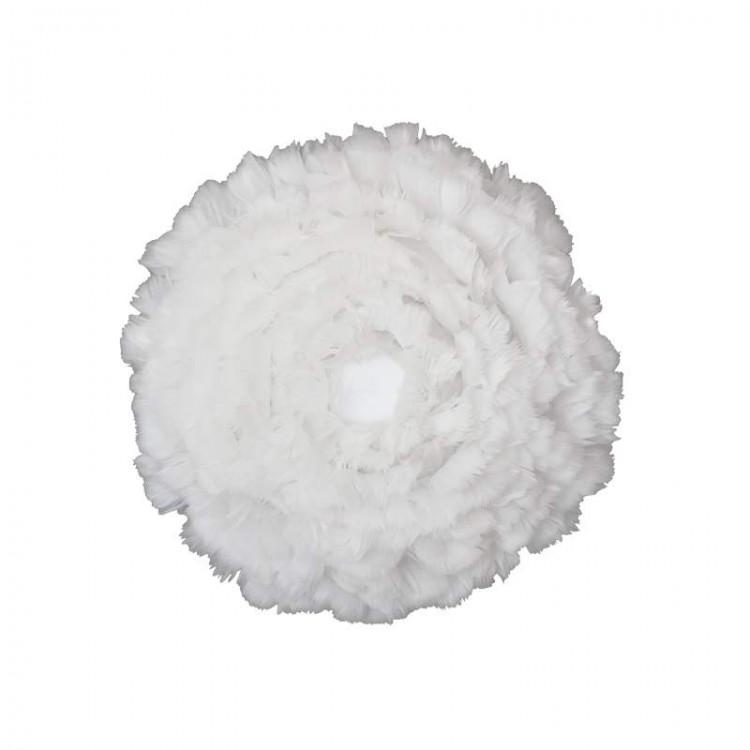 Φωτιστικό Οροφής - Τοίχου Πλαφονιέρα με Πούπουλο EOS UP Medium White E27 Λευκό Φ45x15cm 2140 - UMAGE
