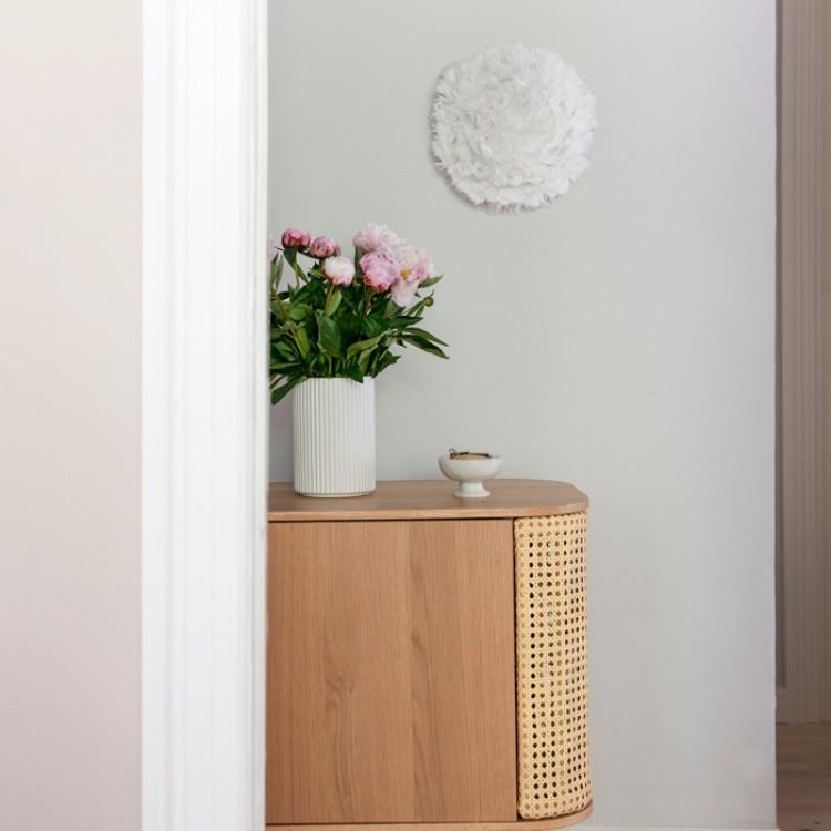 Φωτιστικό Οροφής - Τοίχου Πλαφονιέρα με Πούπουλο EOS UP Mini White E14 Λευκό Φ30x14cm 2142 - UMAGE