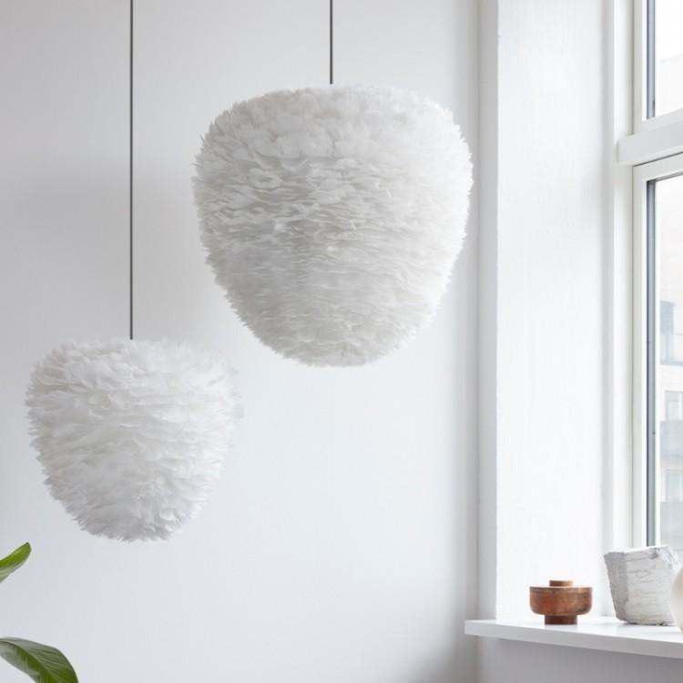 Φωτιστικό Οροφής - Δαπέδου με Πούπουλο EOS Evia Medium E27 Λευκό Φ40x39cm 2349 - UMAGE