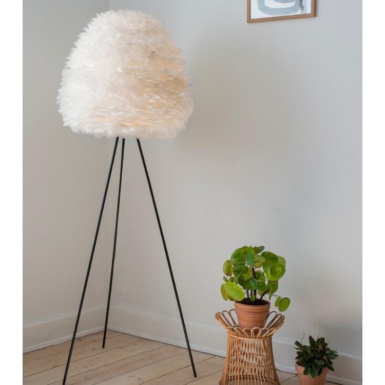 Φωτιστικό Οροφής - Δαπέδου με Πούπουλο EOS Evia Large E27 Λευκό Φ55x54cm 2350 - UMAGE