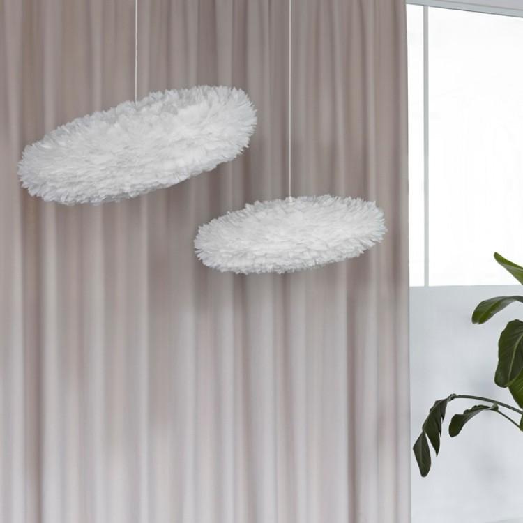 Φωτιστικό Οροφής με Πούπουλο EOS Esther Medium E27 Λευκό Φ60x39x16cm 2347 - UMAGE