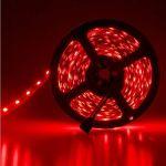 Led ταινία αυτοκόλλητη 14.4w/m 12vdc 60led5050/m μη στεγανή ip20 κόκκινο φώς Κωδικός : LS20-00132