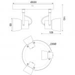 Spot aca-decor 2018 3φ μεταλλικό σε απόχρωση φυσικό-γκρί με gu10 ντουί Κωδικός: MC171153