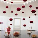 Φωτιστικό Οροφής - Δαπέδου με Πούπουλο EOS Medium Red E27 Κόκκινο Φ45x30cm 2021 - UMAGE